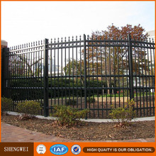 Galvanized steel pipe post and rail garden fencing design