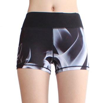 e10c8014c Pabrik Penjualan Langsung OEM Gadis Olahraga Mulus Pakaian Kebugaran Cetak  Polyester Spandex Womens gym celana pendek