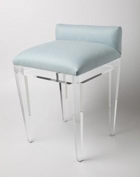 acrylic vanity bench | Modern Indoor Benches,Acrylic,Vanity Stool - Buy Clear ...