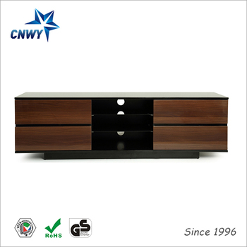 Wooden Led Tv Stand Furniture With Showcase With Tv Mount For ...