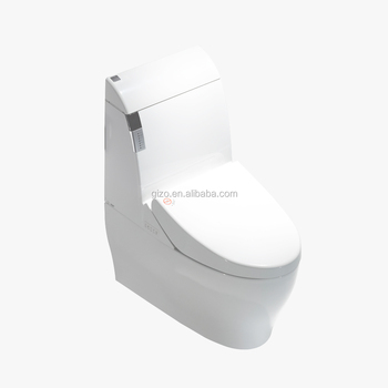 One Piece Structure automatic deodorizer intelligent toilet with siphon jet flushing
