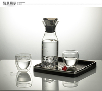 250ml,350ml,450mlEco-friendly elegant design double wall glass tea cup set glass drinking set