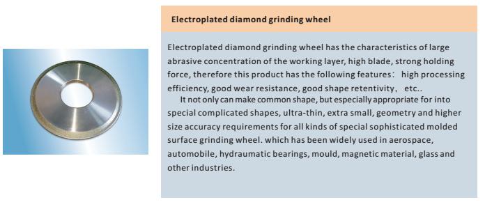 electroplated bond wheel