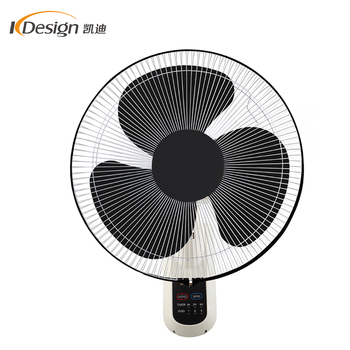 110v 16 Inch Small Office Wall Fan Speed Remote Control Oscillating Wall  Fans With 3 Plastic