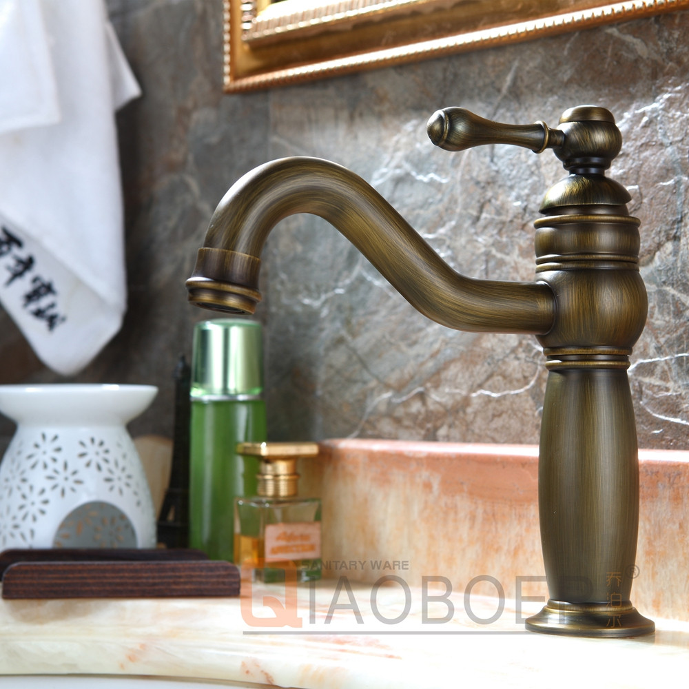 Classical manufacturer brass single handle bathroom vessel sink faucet