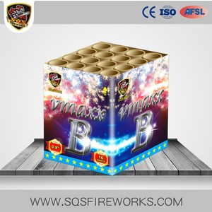 Wholesale high quality consumer square 16 shots chinese cake fireworks