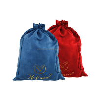 custom small velvet jewelry drawstring pouch bag with logo