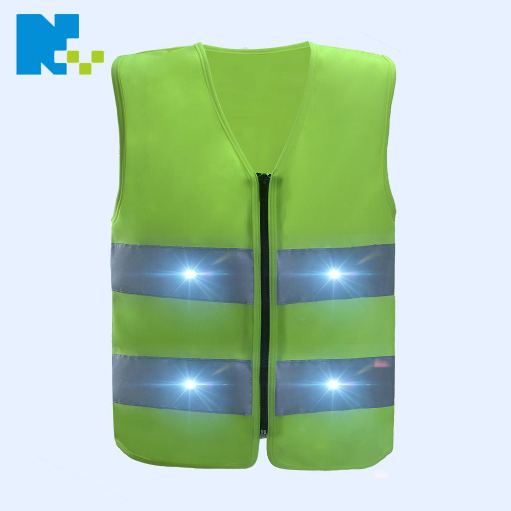 Hi vis Outdoor Sports Running Protective Children LED Lights Child Kids Reflective Safety Vest