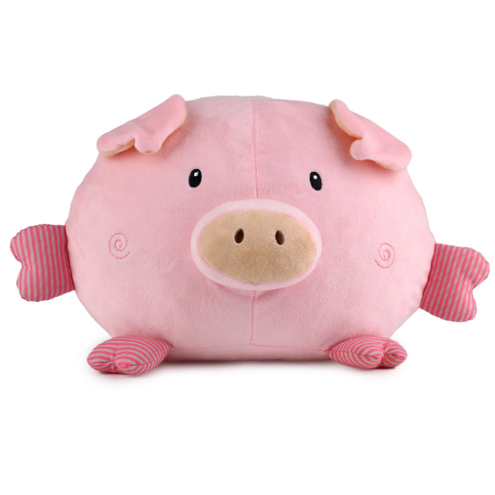 China manufacturer <strong>plush</strong> cute squeaky stuffed pink pig soft toy