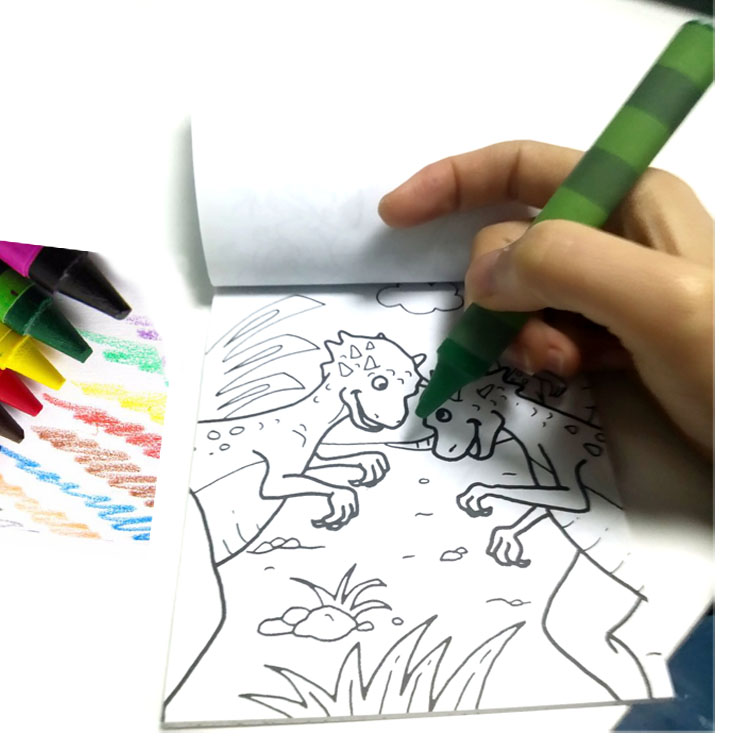 Notebook Colouring Book With Pencils / Crayons/ Coloring Book / Sketch Book  Printing Spiral Sketchbook With Stencils - Buy Paint Color Chart Printing  ...