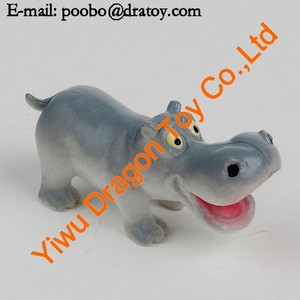 plastic 3d lovely cartoon character hippo