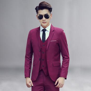 2018 nueva moda de esmoquin para hombres 3 unidades de negocios para hombre  slim fit trajes b22d762ee67