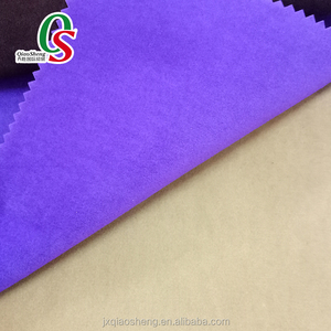 100%polyester hot sale double side plain flocked deerskin velvet fabric for shoes