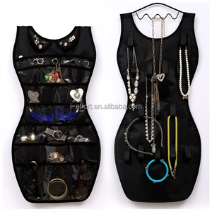 Dress shape Fabric hanging storage jewelry organizer