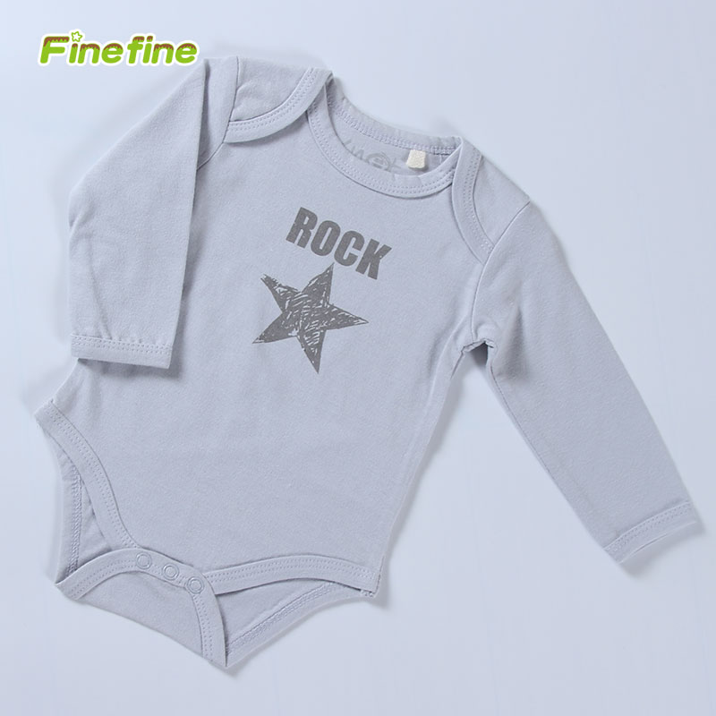 100% Cotton Jersey Long Sleeve Baby Rompers