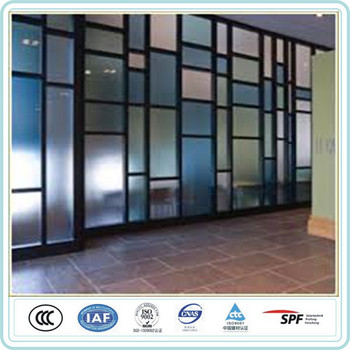 Living Room Decorative Frosted Glass Partition Design