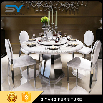Round Pedestal Rotating Stainless Steel