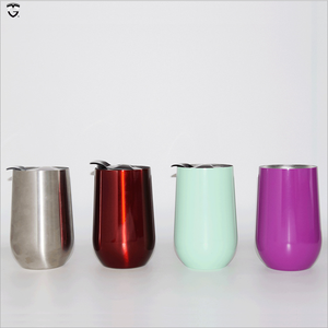 16oz insulated thermal Wine thermo Mug vacuum double wall stainless steel tumble beer tea travel korean cup with silicone lid