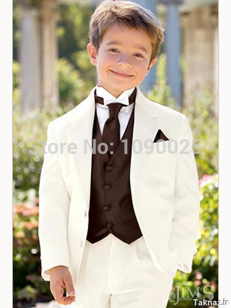Новый стиль мальчик смокинги зубчатый отворот дети костюм Kid свадьба / пром костюмы три ( пиджак + жилет + брюки + галстук )