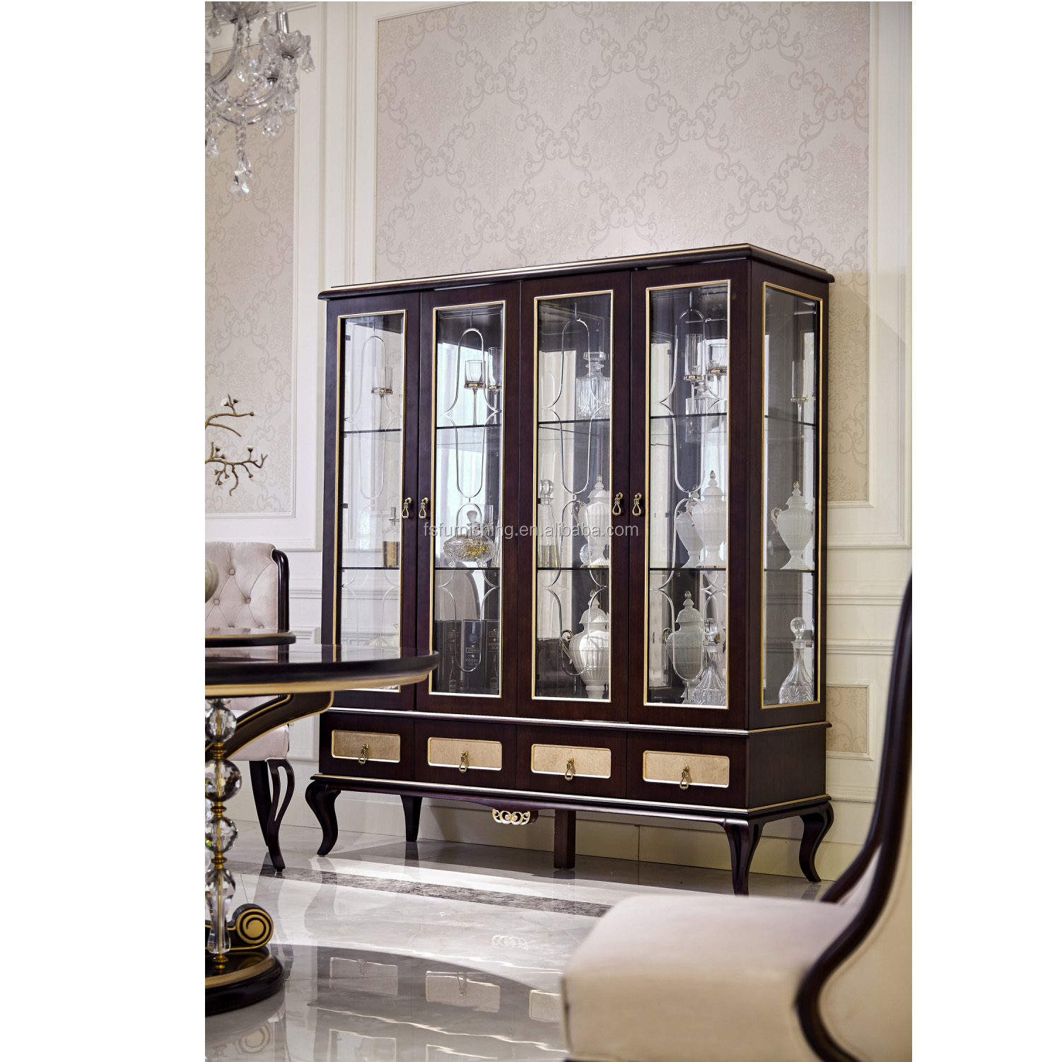Yb71 Antique Solid Wooden Furniture Glass Display Wooden Wine Cabinet  Design For Living Room - Buy Antique Wooden Wine Display Cabinet,Antique ...