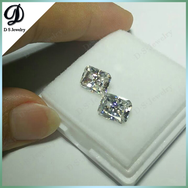 7x9mm Radiant Cut White Synthetic Moissanite Diamond For Jewelry Making