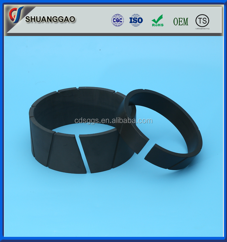 high temperature black filled PTFE teflon wear ring