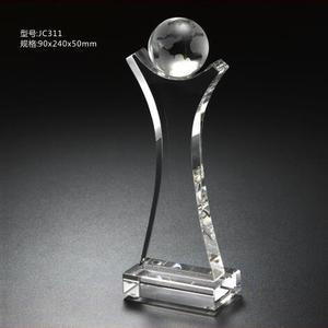 2019 Hot Selling Crystal Golf Ball Trophy Award With Cheap Price JC311
