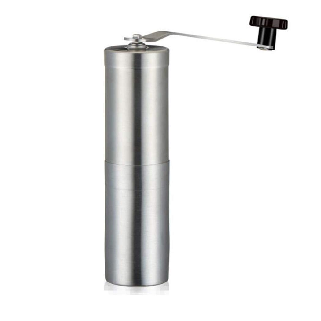 YESUN Creative Stainless Steel Manual Coffee Bean Grinder, Hand Crank, Ceramic Core, Multifunctional, Portable, Detachable, Body Washable, Adjustable Thickness, Suitable for Travel
