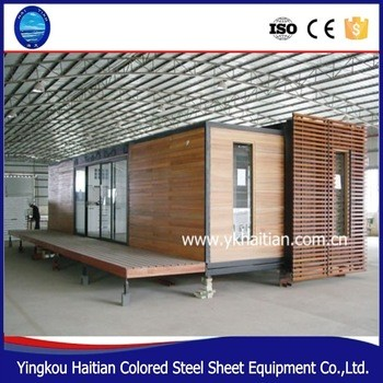 China modern prefabricated wooden bungalow house prefab log ready made villa simple wooden easy assembly house kit