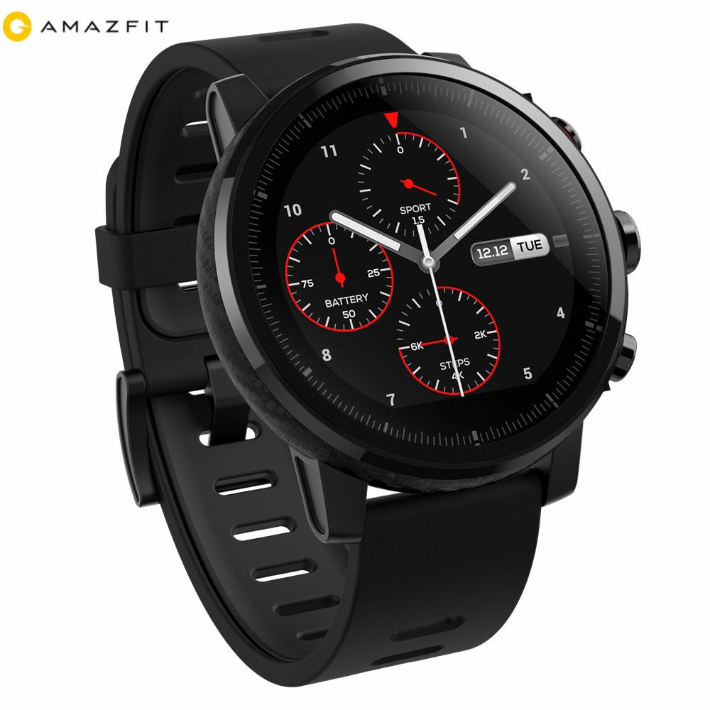 2018 English Version Xiaomi Huami Mi A1619 Amazfit Stratos 2 GPS 5ATM Waterproof Sports Smartwatch фото