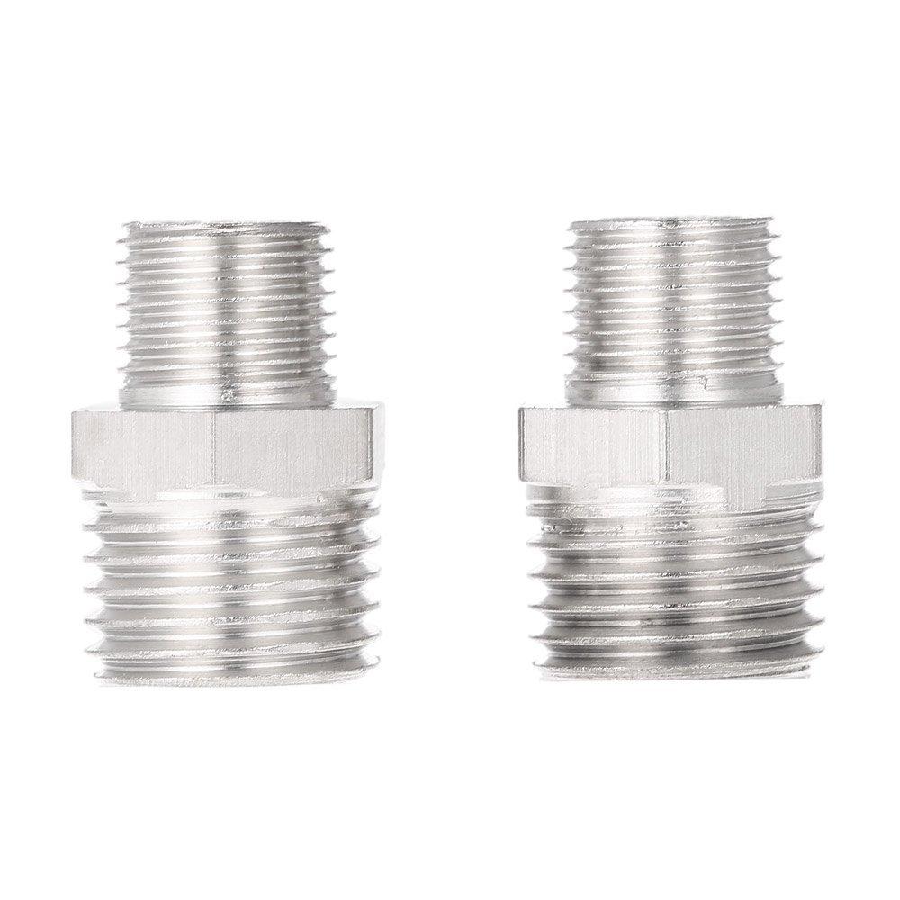 """Walmeck Professional 2pcs Airbrush Air Hose Adaptor G1/8"""" BSP Male & G1/4"""" BSP Male Air Brush Connector for Mini Air Compressor"""