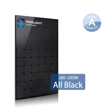 Perlight Black Solar Panels Canadian 340W 350W 360W Mono Solar Panel For Sale