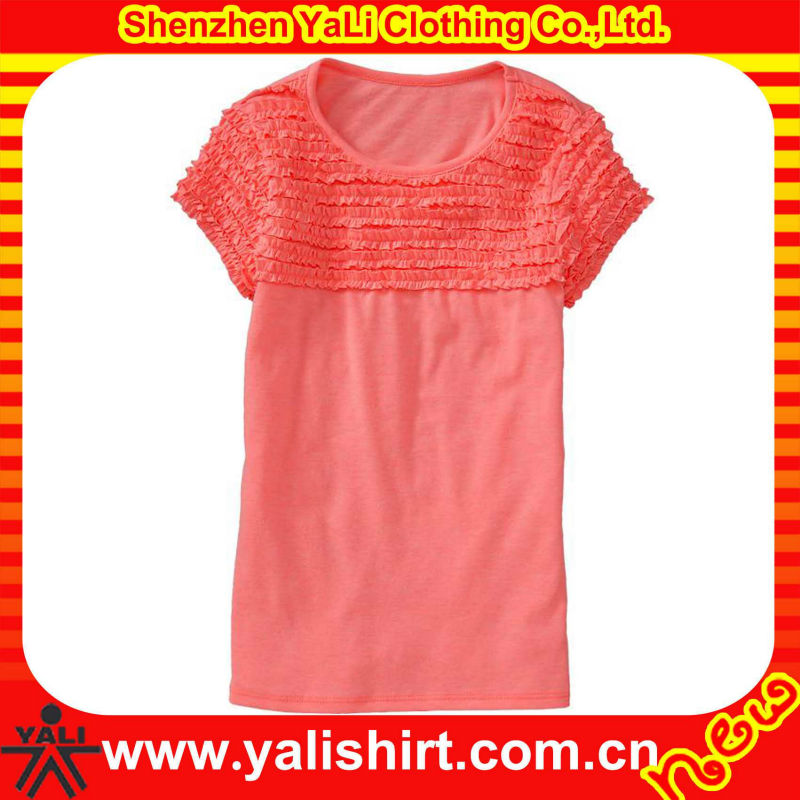 OEM latest lace design casual o-neck short sleeve cotton cheap china wholesale kids clothing