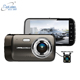 Metal housing Private 4 Inch dual lens car dvr gps g-sensor dual dash camera 1080P