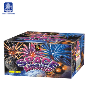 0 8 wholesale space Airship 1 2 1 5 2 inch W V Z S Fan heart Shaped salutes  25 100 shots cake fireworks
