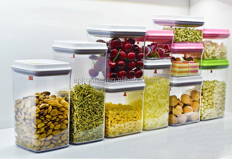 High Quality Best Price 1700ML Food Grade BPA Free Rectangle Plastic  Container/Airtight Pop Up