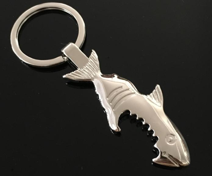 3d Zinc Alloy Shark Shape Unique Creative Gift Animal Bottle Opener Keychain Novelty Shark Promotional Custom Bottle Opener Key Buy Promos Fashion Hot Selling Metal Aluminum Shark Bottle Opener Keychain Wholesale Stainless Steel