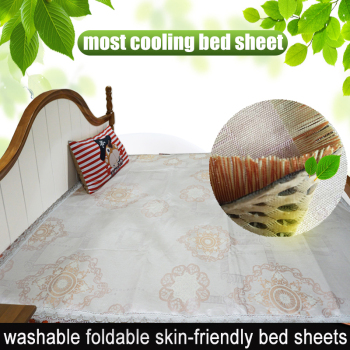 Summer Double /full Extra Long (XL) Bed Sheet Foldable,washable,cooling