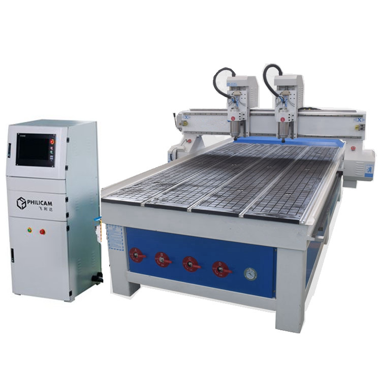 Philicam high quality smart <strong>cnc</strong> cutting double head 1325