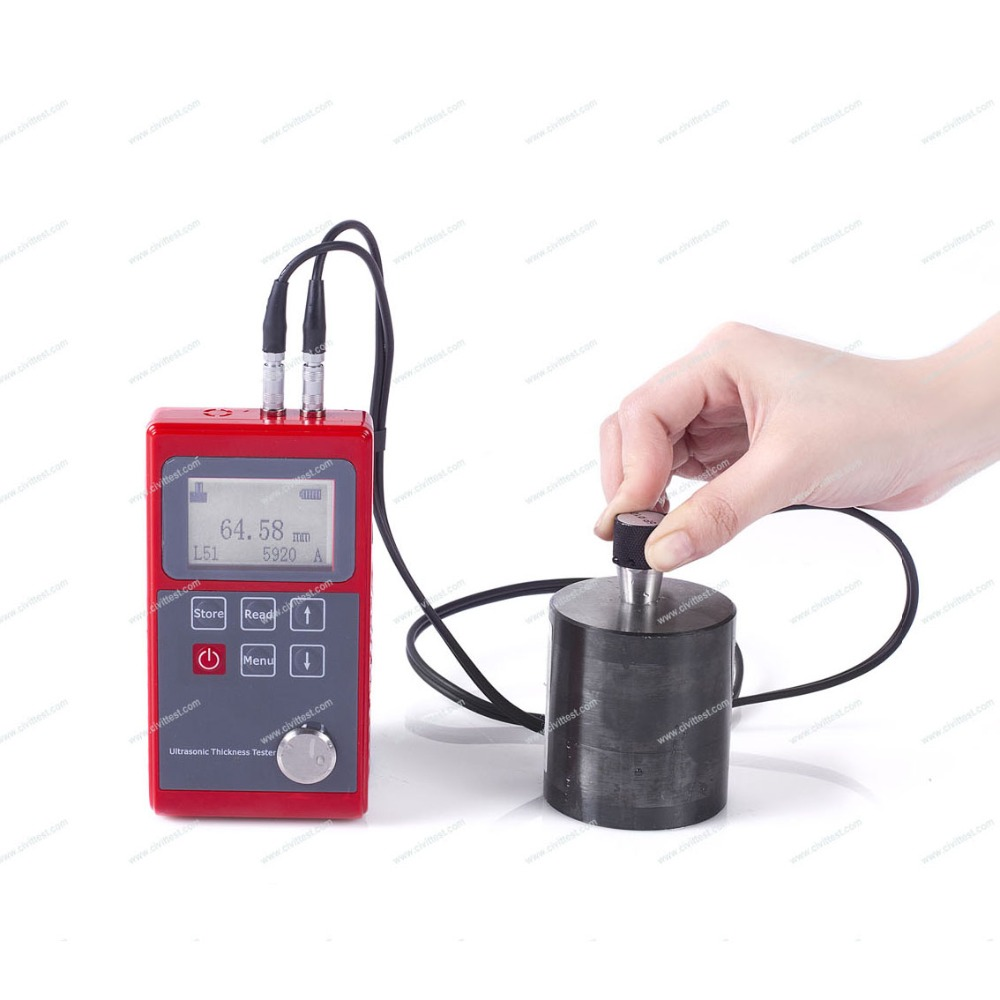 Resolution 0.01mm Velocity range 1000-9999m/s Ultrasonic thickness gauge test
