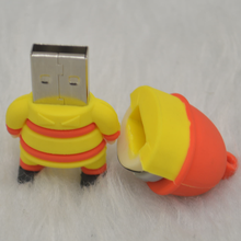Customized USB2.0 Cartoon 3D PVC usb pen drive Fireman PVC usb flash drive 128MB-128GB PVC usb memory stick for Gifts