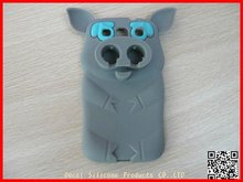 Pig shape Promotional customized logo cheap custom silicone mobile phone case
