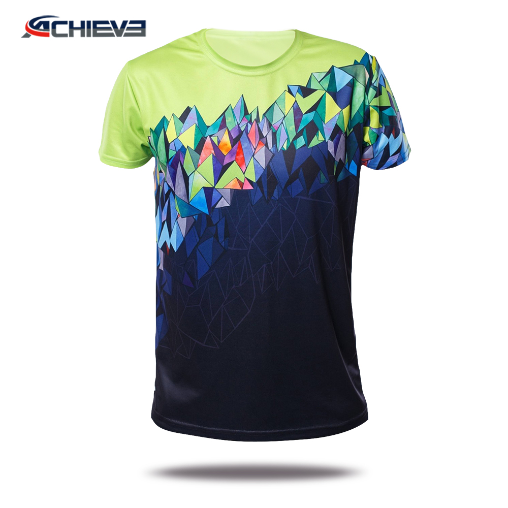 wholesale custom all over print t-shirt/Round Neck Printing Tee Shirt/Custom sublimation printing hawaiian shirt