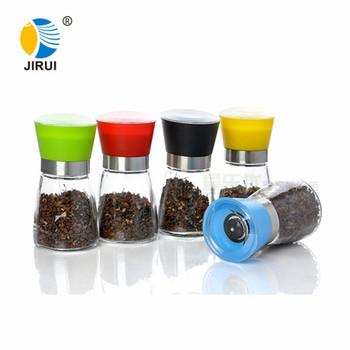Colored Lid Glass Salt Manual Pepper Grinder Buy Manual