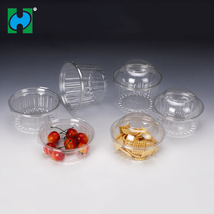 Custom Transparent Disposable Fruit Salad Airtight Food Container Plastic