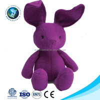2015 New product purple pig plush toy custom cute stuffed soft plush pig rabbit