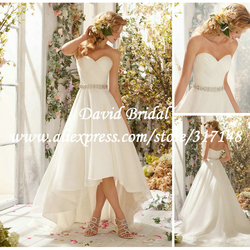 Country Wedding Dresses High Low Fashion Dresses