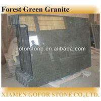 forest green dark green kitchen countertop