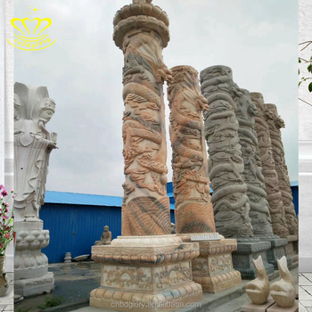 garden decorative carve stone pillars and columns for sale