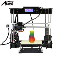 2017 Hot Anet A8 Large Printing Size 3D Printer DIY 3D Printer with Multicolor Filament